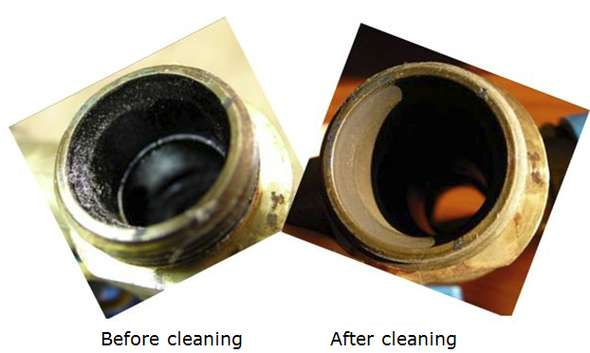 SolRnett cleaning images before and after